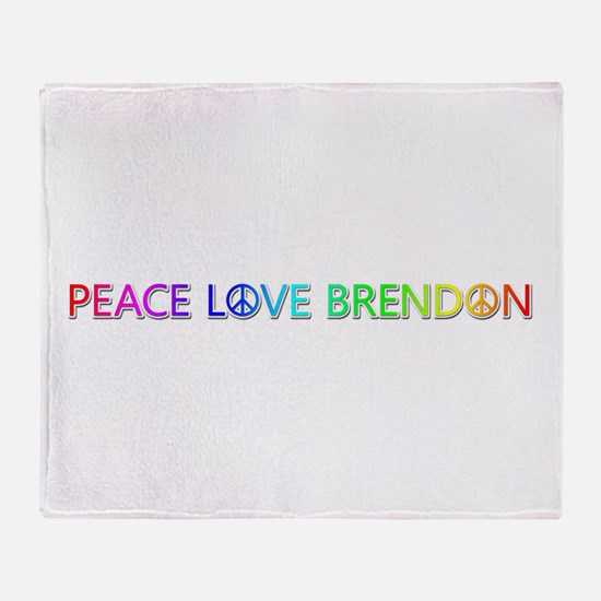 Peace Love Brendon Throw Blanket
