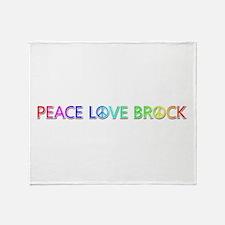 Peace Love Brock Throw Blanket