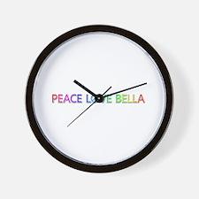 Peace Love Bella Wall Clock