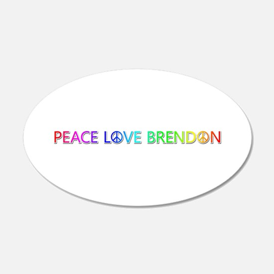 Peace Love Brendon Wall Decal