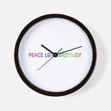 Peace Love Brittney Wall Clock