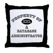 Property of a Database Administrator Throw Pillow
