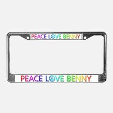 Peace Love Benny License Plate Frame