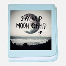 Stay wild moon child baby blanket