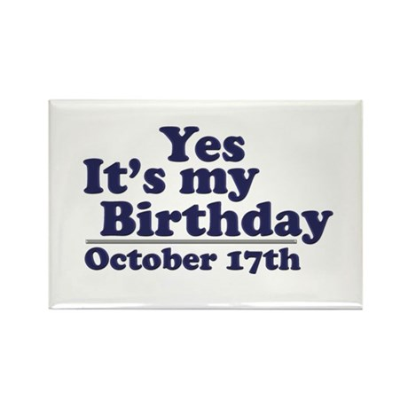 October 17th Birthday Rectangle Magnet (10 pack)
