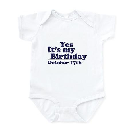 October 17th Birthday Infant Bodysuit
