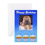 happy birthday charpei look Greeting Card
