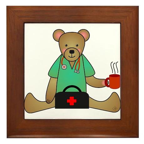 Teddy Bear Medical Framed Tile