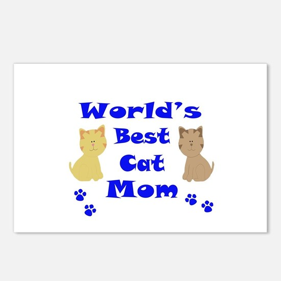 World's Best Cat Mom Postcards (Package of 8)