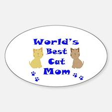 World's Best Cat Mom Decal