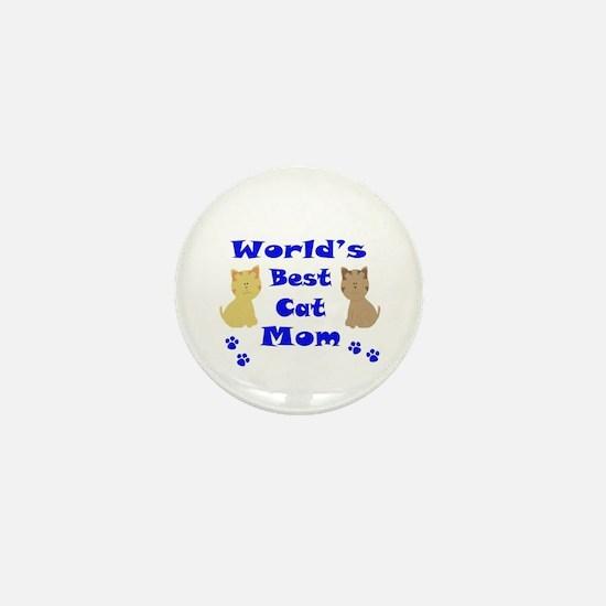 World's Best Cat Mom Mini Button