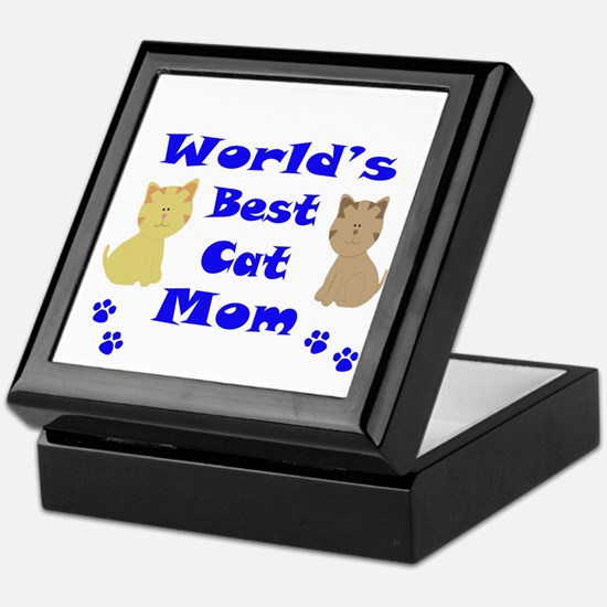 World's Best Cat Mom Keepsake Box