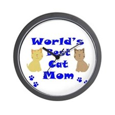 World's Best Cat Mom Wall Clock