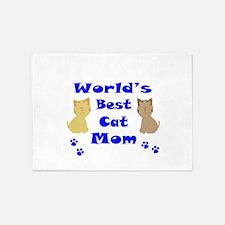 World's Best Cat Mom 5'x7'Area Rug