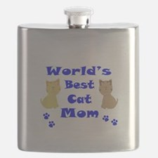 World's Best Cat Mom Flask