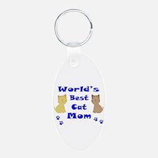 World's Best Cat Mom Keychains