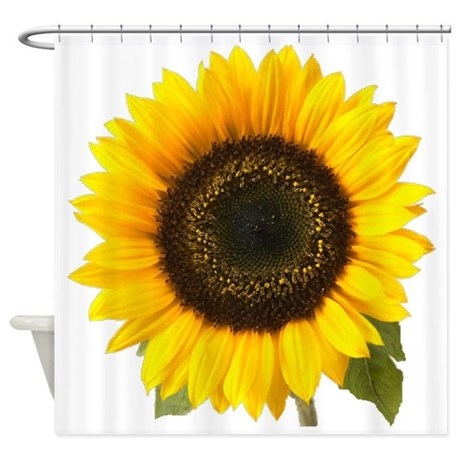 sunflower shower curtain by dodgerfl
