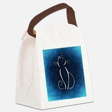 Unique Blue cat Canvas Lunch Bag