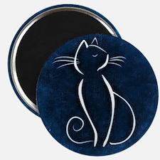 Funny Blue cat Magnet