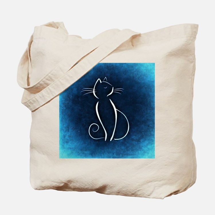 Cute Abstract cat Tote Bag
