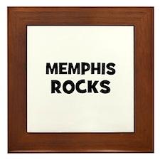 Memphis Rocks Framed Tile