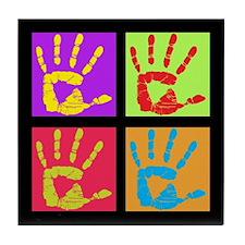 Pop Art Hands Tile Coaster