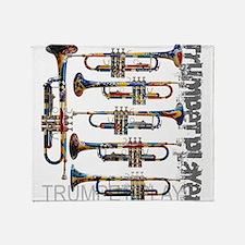Trumpet Player Art Design by Juleez Throw Blanket