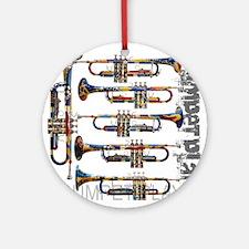Trumpet Player Art Design by Juleez Round Ornament