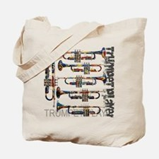 Trumpet Player Art Design by Juleez Tote Bag