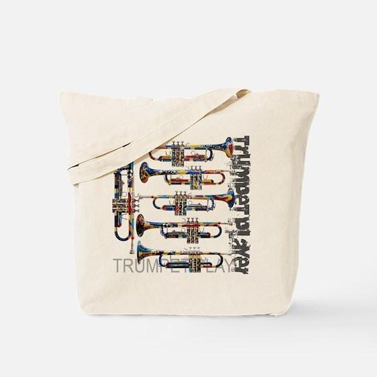 Trumpet Player Art Design by Juleez Tote Bag