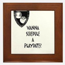 Cute Playdate Framed Tile