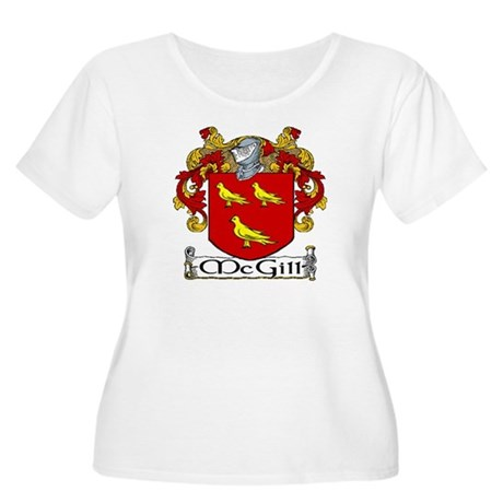 McGill Coat of Arms Women's Plus Size Scoop Neck T