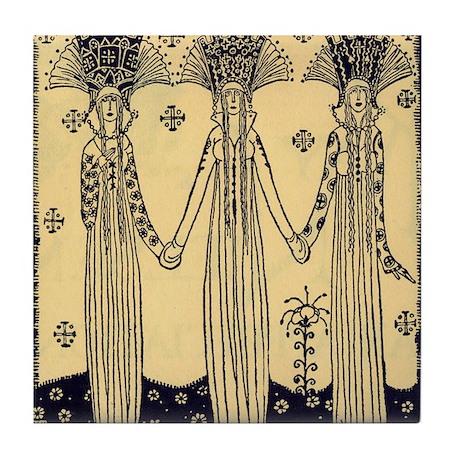 Three Princesses Tile Coaster