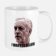 Corbyn I Want to Believe (Red) Mugs
