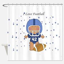 I Love Football Baby Shower Curtain