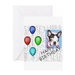 happy birthday boston birthday look Greeting Card