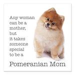 Pomeranian Mom Square Car Magnet 3