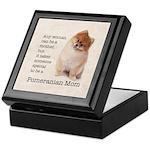 Pomeranian Mom Keepsake Box