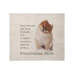 Pomeranian Mom Throw Blanket