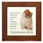 Pomeranian Mom Framed Tile