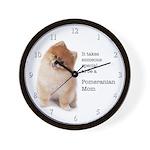 Pomeranian Mom Wall Clock