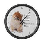 Pomeranian Mom Large Wall Clock