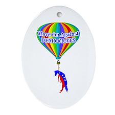 MoveOn.org Political Satire Oval Ornament