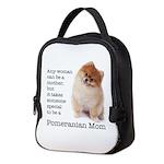 Pomeranian Mom Neoprene Lunch Bag