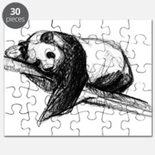 Bear Lying On A Tree Puzzle
