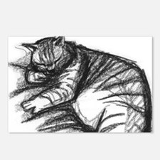 Fat Cat Sleeping Postcards (Package of 8)