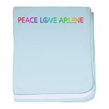 Peace Love Arlene baby blanket