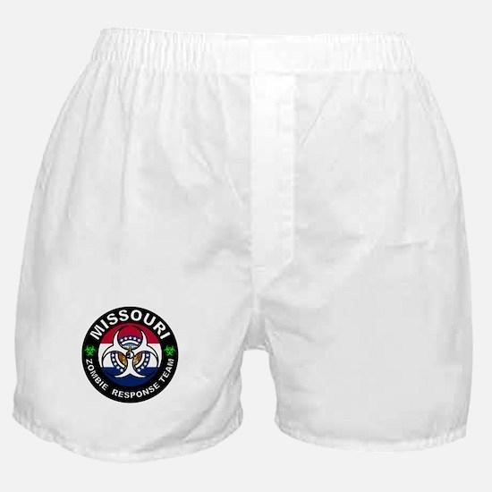 Missouri Zombie Response Team White Boxer Shorts