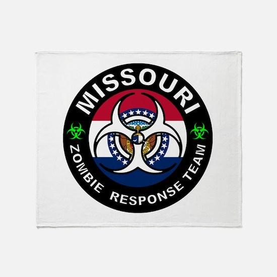 Missouri Zombie Response Team White Throw Blanket