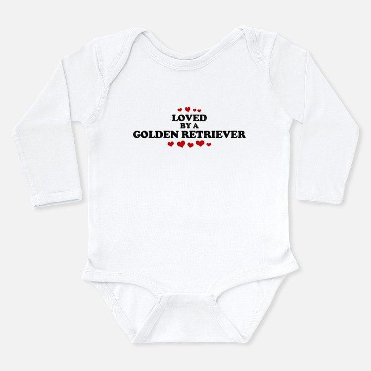 Cute Golden retriever lovers Long Sleeve Infant Bodysuit